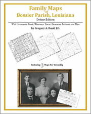 Family Maps Bossier Parish Louisiana Genealogy LA Plat