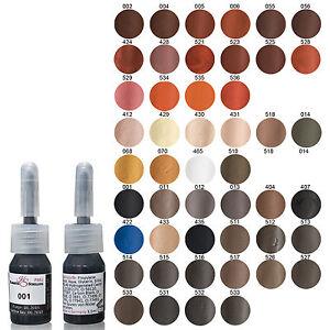 SET KS Permanent Makeup Farbe 3 Stück  PMU 3,5ml Deutscher Hersteller