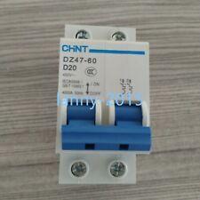 1PC NEW  CHNT DZ47-60 2P D20A