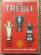 Manchester United - The Treble (DVD, 1999) Man Utd