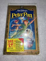 New Peter Pan vhs Tape 45th Anniversary Limited Edition Disney Movie 1998