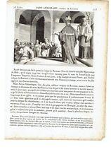 """1825 Vite dei Santi: Sant'Apollinare Vescovo di Ravenna """"Saint Apollinaire"""""""