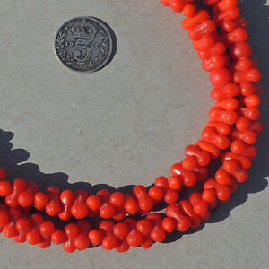 22.5 inch 57.5 cm strand old czech bohemian african trade beads #118