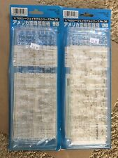 2 Kits Fujimi 1/700 Modern Carrier Based Fighters Of  United States  Cvw2& Cvw5