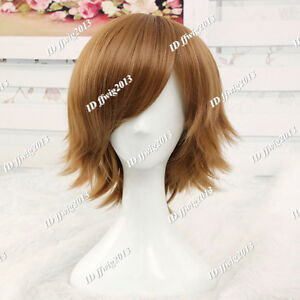 Brown Short Cosplay Wig CC24 + a wig cap