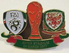 Ireland  V Wales World Cup Qualifier 2017 Aviva Irish Welsh Match Pin Badge