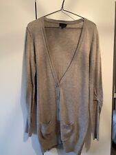 Topshop Longline Beige Cardigan Size 12
