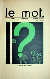 🌓 Le Mot n°17 1915 JEAN COCTEAU PAUL IRIBE Roland GARROS satire anti-allemand