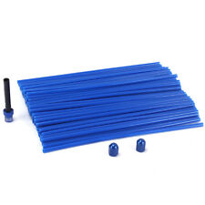 Universal Blue Spoke Covers&Tyre Valve Stems&Fuel Gas Cap Air Vent Dirt Bike