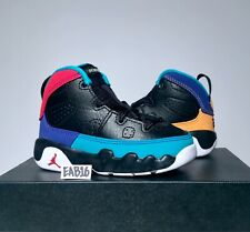 sale retailer 84257 e9d8d Nike Air Jordan Retro IX 9 Dream It Do It Black Yellow Red Infant Toddler  Size