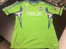 Seattle Sounders Authentic Leonardo Gonzalez Jersey Size L Adidas Pre-Owned MLS