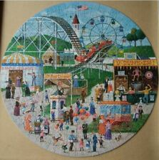"""""""Fairground Frolics"""" Circular Jigsaw Puzzle  - complete in Very Good condition."""