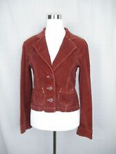 Tulle Corduroy Jacket Rust Brown Colored Size M Medium