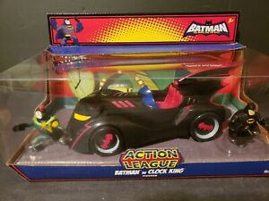2008 MATTEL BATMOBILE CARTOON NETWORK BATMAN VS CLOCK KING BRAVE AND THE BOLD