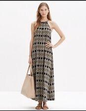 Madewell White Black Aruba Cover-up Maxi Dress in Woodcut Diamond Size L