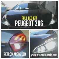 KIT LED CANBUS ANABBAGLIANTI H7 6000K + RETROMARCIA LED // SPECIFICO PEUGEOT 206