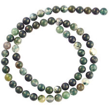 MOSS AGATE 6MM ROUND GEMSTONE BEADS 16 AA++ BEAD
