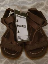 Baby TIMBERLAND En Cuir Filles Sandales Marron Taille UK 6.5 BNWT
