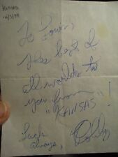 KANSAS BAND AUTOGRAPHS FROM THE WHITEHALL DECEMBER 3RD 1979 RARE