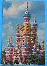 WDW 1996 CINDERELLA PINK CASTLE CAKE POST CARD 25th ANNIVERSARY DISNEY WORLD