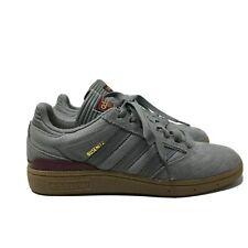 Adidas Dennis Busenitz Men's Gray Suede Skateboarding Shoes Size 5.5 GUC