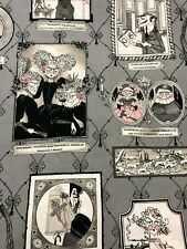 Alexander Henry Ghastlie Gallery Ghastlies Portraits Halloween Gray Fabric BHY