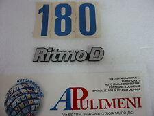 "345/D FREGIO-LOGO-SIGLA (BADGE) FIAT ""RITMO D"" IN PLASTICA"