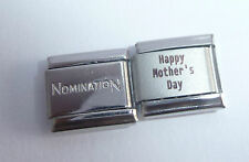 HAPPY MOTHER'S DAY 9mm Italian Charm + 1 x Genuine Nomination Classic Link MUM