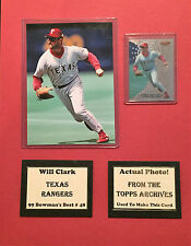 1999 Bowman's Best Will Clark Rangers Photo Card Matte 11x14 Actual Photo Used
