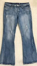 """Vigoss Jeans The Atlanta Flare size 11 Distressed Destroyed style Waist 35"""""""