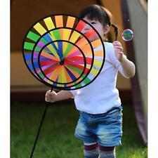 Wind Spinner 3D Windmill Kids Outdoor Toy Garden Spinner Lawn Yard Decor