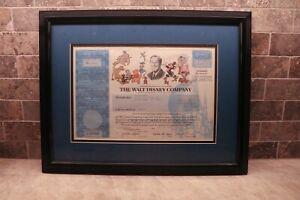 Walt Disney Stock Certificate Framed