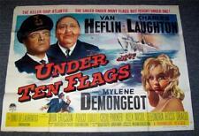 1960 Affiche de film original SOUS DIX DRAPEAUX Charles Laughton