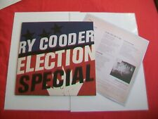 RY COODER - ELECTION SPECIAL - LP - 2012, NONESUCH 531159-1, WITH LYRIC INSERT