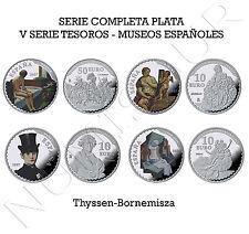 ESPAÑA: colección completa PLATA - V Serie Tesoros de Museos Españoles