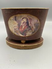 Vintage Tole Toleware Planter Jardiniere French Country Design Sm Hand Painted