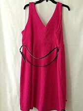 "Motherhood Maternity size XL Textured Pink Dress Sleeveless L 39"" Career NEW"