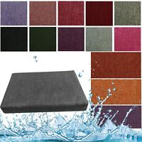 Box Shape Seat Cushion Cover*Water Proof Patio Outdoor Sofa-like Linen Canvas Sf
