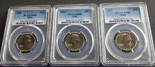 1965-1966-1967 SMS 25C PCGS SP68 high grade 3 Coin SMS Washington Quarter Set