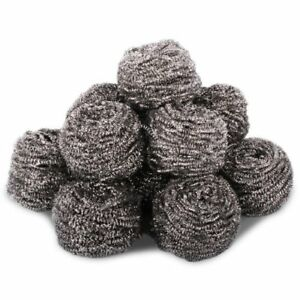 10 Pack of Heavy Duty Stainless Steel Scourers - 40grams Each. Ideal for Paint