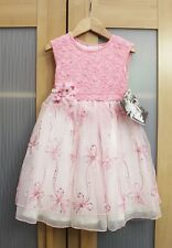 Nwt CachCach Girls Lace Daisy Sequin Dress and Headband Set ~ Size 2T