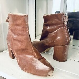 RARE NWT $119 ZARA SS17 Strawberry REAL LEATHER ANKLE BOOTS 2119//201