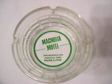 vintage glass ashtray Magnolia Motel Knoxville Tenn