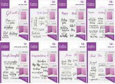 Crafters Companion - Sentiment & Verses -  Clear Unmounted Stamps