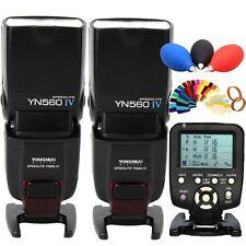 YONGNUO 2x YN-560IV Wireless Flash Speedlite+YN560-TX trigger for Canon