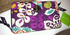 Vera Bradley NWT Plum Crazy Turn Lock Wallet *Pretty Colors*