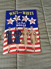 Wacs And Waves Paper Dolls 2001 B. Shackman Uncut