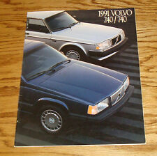 Original 1991 Volvo 240 740 Sales Brochure 91