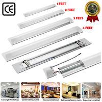 LED Batten Tube Light Linear Slimline Panel Ceiling Lights Wall Shed 4FT 5FT 6FT