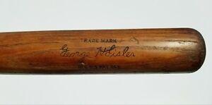 """1930-32 George Sisler 34"""" Louisville Slugger 40 G.S Bone Rubbed Vtg Baseball Bat"""